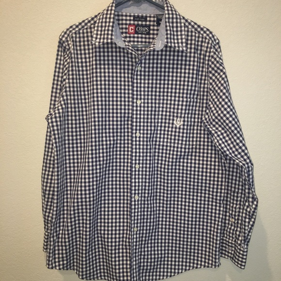 Chaps Other - Chaps EasyCare Button Down (blue checker)